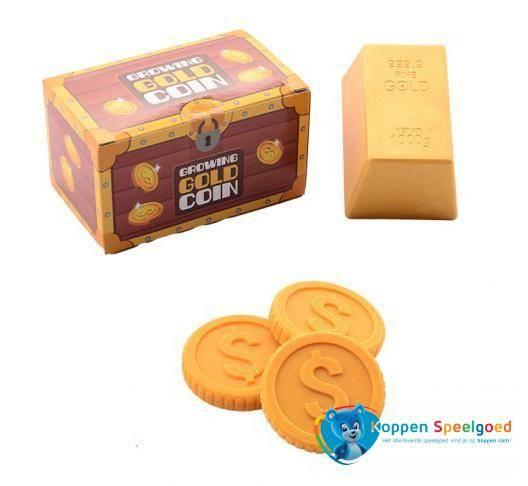 Groeiende munt in goudstaaf