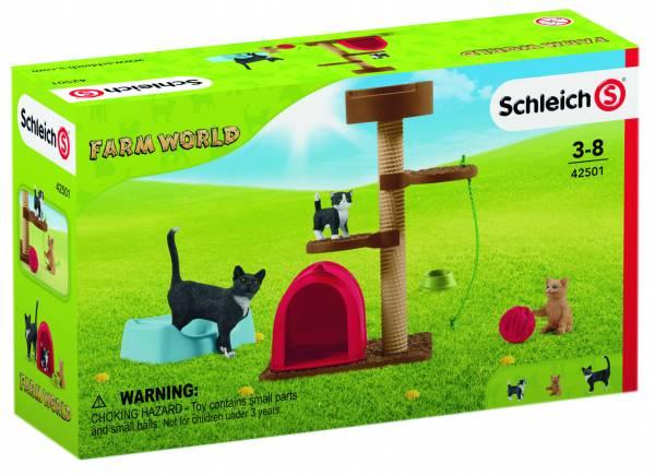 Krabpaal set met katten Schleich (42501)