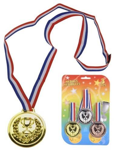 Grote medailles set 3 stuks