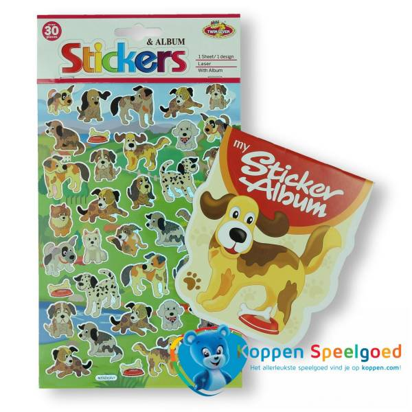 Sticker album hond
