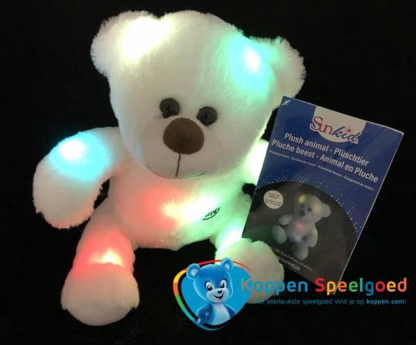 Pluche beer met licht 25 cm