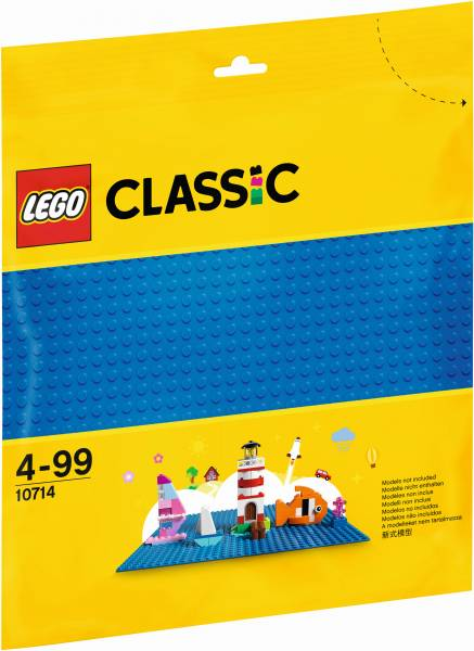 Blauwe bouwplaat Lego (10714)