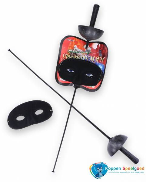 Zorro zwaard met masker