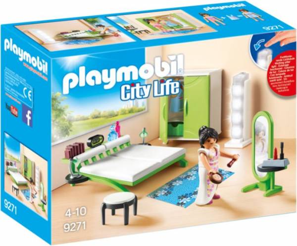 Slaapkamer met make-up tafel Playmobil (9271)
