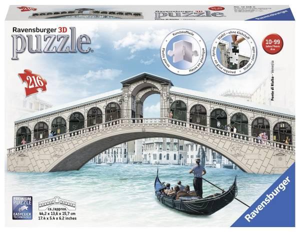 Puzzel Ponte de rialto Venetie: 216 stukjes (12518 0)