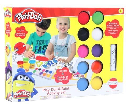 Play-Doh Verfset met 4 Potjes Klei