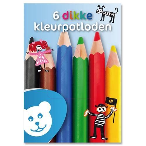 Dikke kleurpotloden, set à 6 stuks