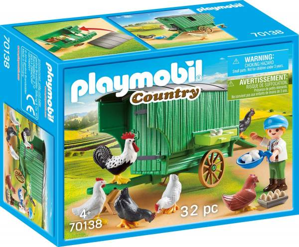 Kind met kippenhok Playmobil (70138)