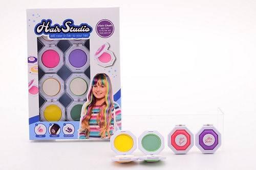 Haarkrijt kleurset in doos