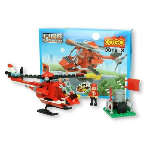 COGO brandweer helikopter 108 delig