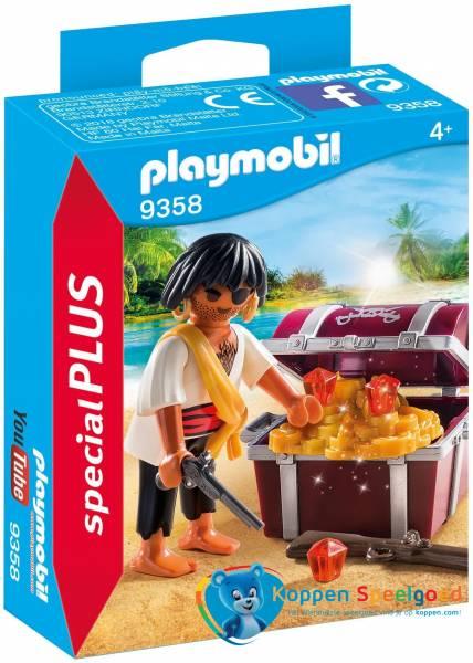 PLAYMOBIL Piraat met schatkist - 9358