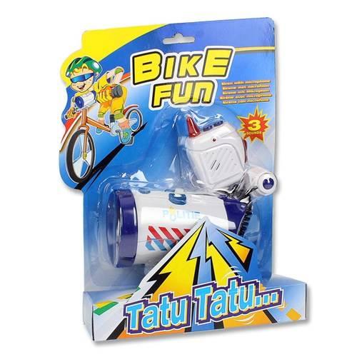 Bike Fun sirene met microfoon politie (incl batterijen)