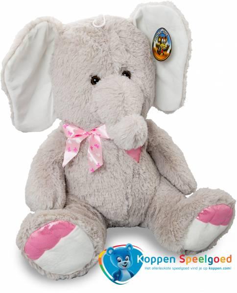 Pluche zittende olifant 55 cm