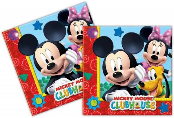 Servetten Mickey Mouse 33x33 cm: 20 stuks (81510P)