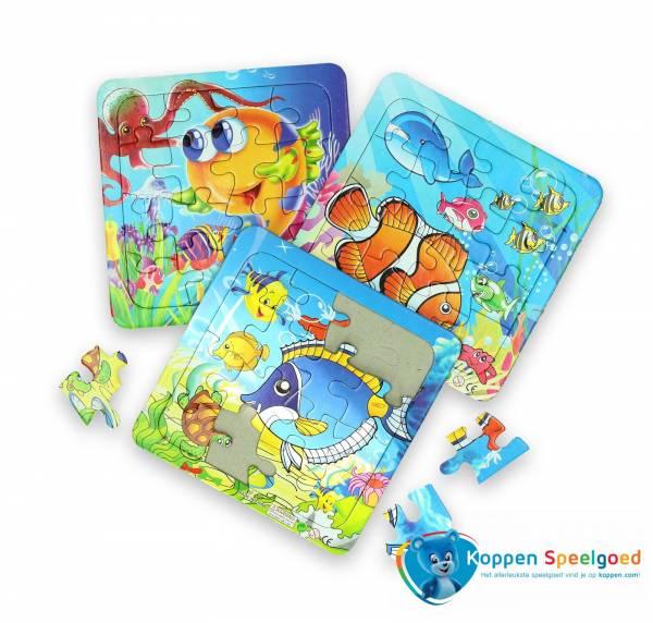 Mini puzzel zeedieren
