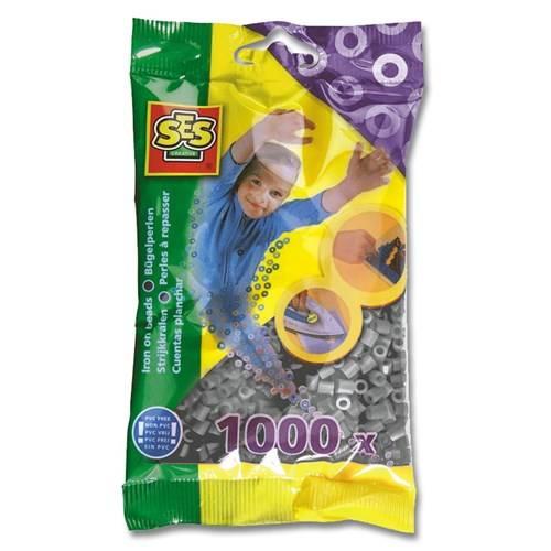 SES Strijkkralen grijs 1000 stuks