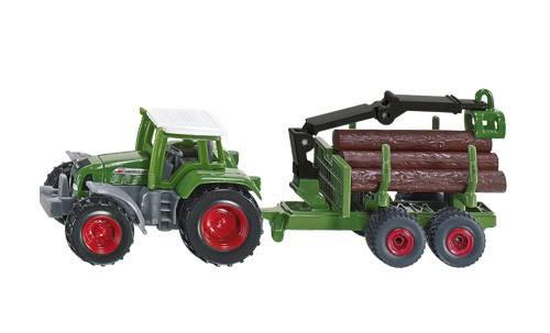 Siku Tractor met bosaanhangwagen