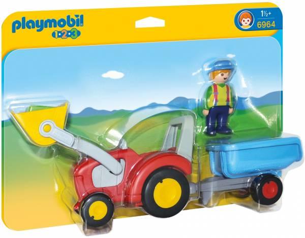 Boer met tractor en aanhangwagen Playmobil (6964)