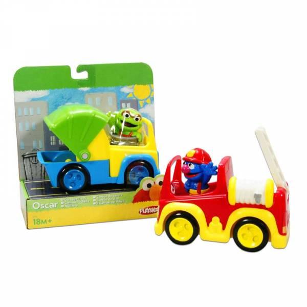Playskool Sesamstraat Grover brandweerwagen