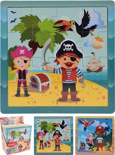 Puzzel piraat, hout