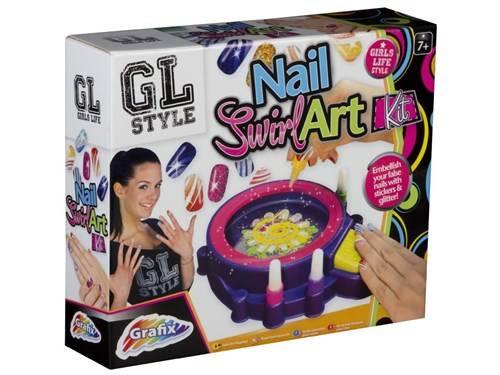 Spin art nagels versieren