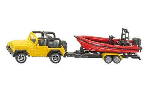 Siku Jeep met boot