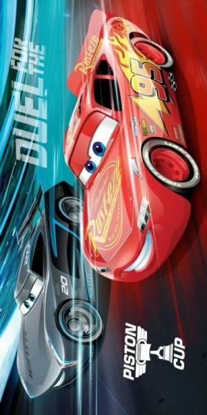 Badlaken Cars rev hard: 70x140 cm