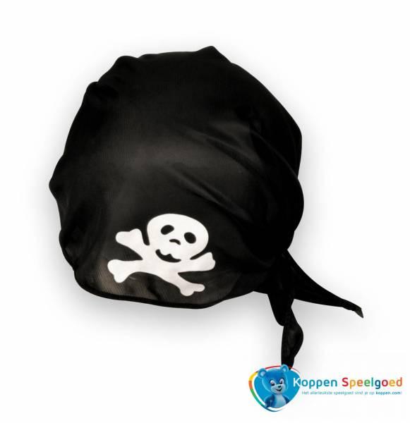 Bandana piraat, zwart