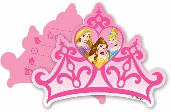 Uitnodigingen Princess: 6 stuks (85006P)