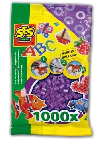 SES Strijkkralen paars 1000 stuks