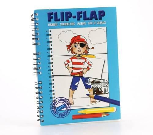 Flip flap kleurblok jongens