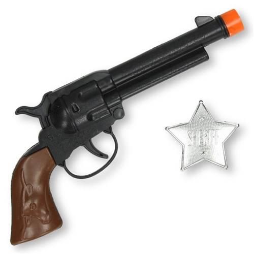 Cowboy pistool en sheriffster