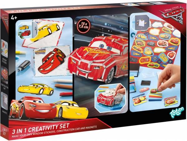 Creativity Set Cars 3 ToTum: 3 in 1