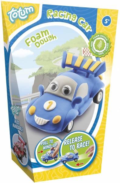 Foamdough ToTum pull back auto blauw