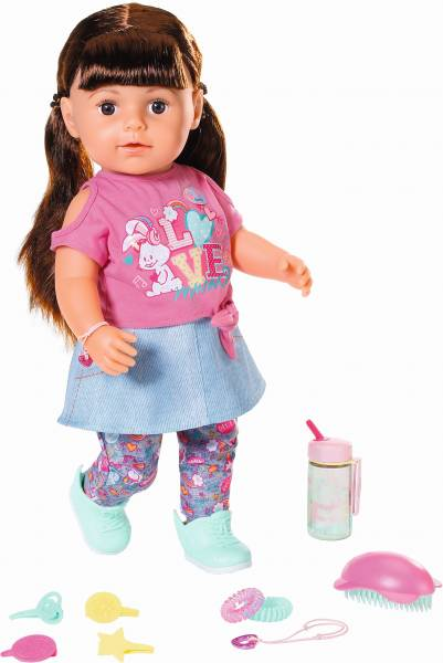 Pop Soft Touch Sister Baby Born 43 cm: bruin (8271 85)