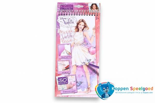 Disney Violetta schets- en kleurboek met stickers