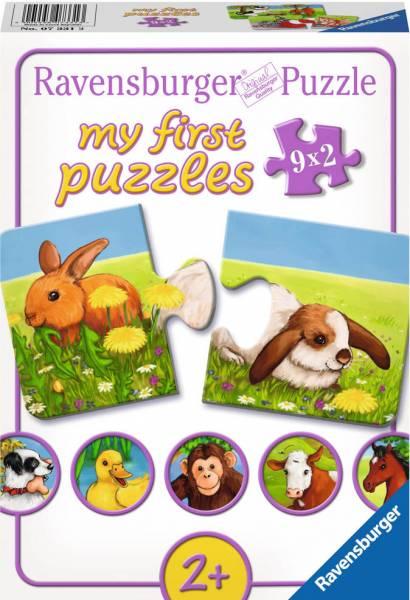 Puzzel lieve dieren: 9x2 stukjes (073313)