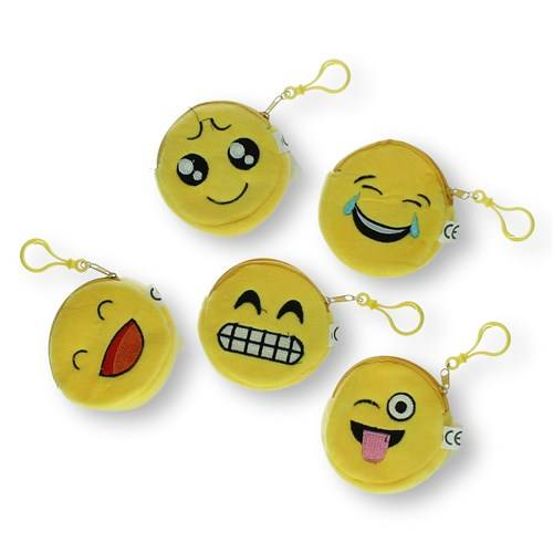 Pluche emoticon portemonnee