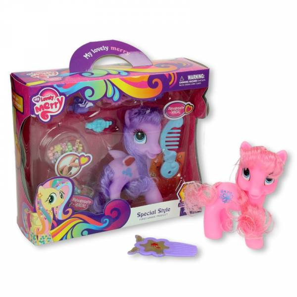 Pony met haaraccessoires