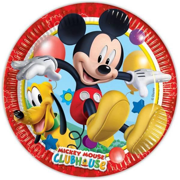 Bordjes Mickey Mouse 23 cm: 8 stuks (81508P)
