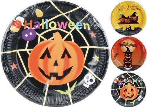 Halloween borden karton 8 stuks