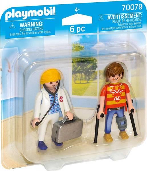 DuoPack Dokter en patient Playmobil (70079)