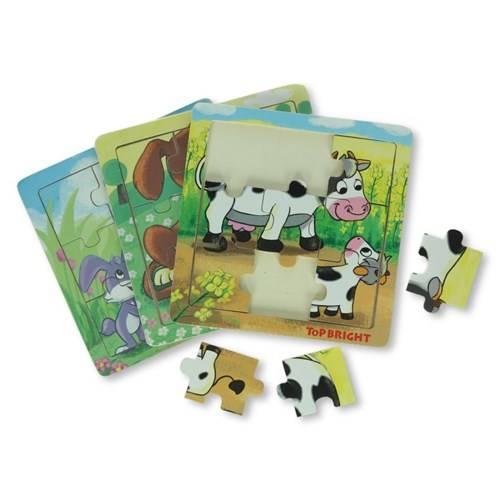 Puzzel boerderijdieren, hout