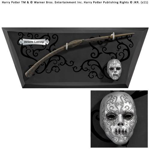 Bellatrix toverstaf met muurplaat en mini masker