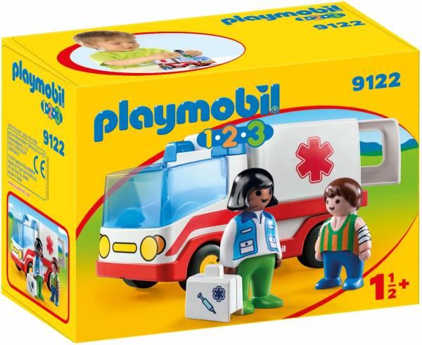 1.2.3 Ziekenwagen Playmobil (9122)