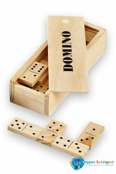 Domino 28 steentjes, hout