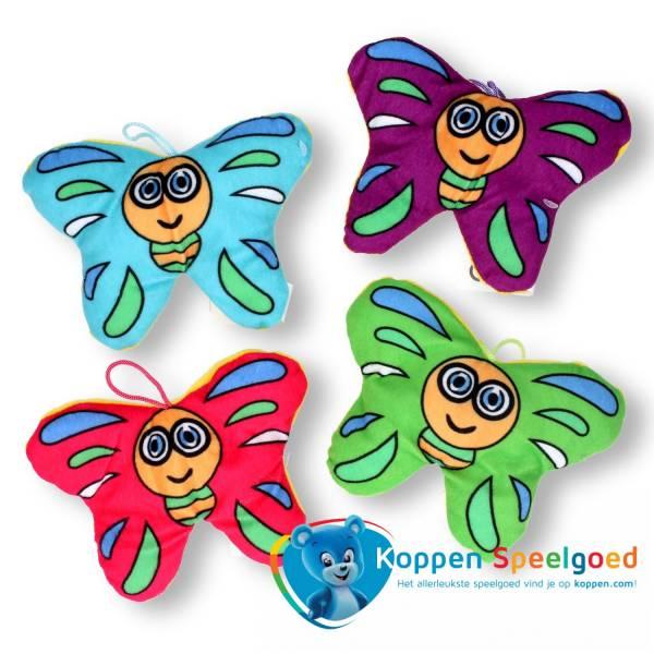 Pluche vlinder 16 cm