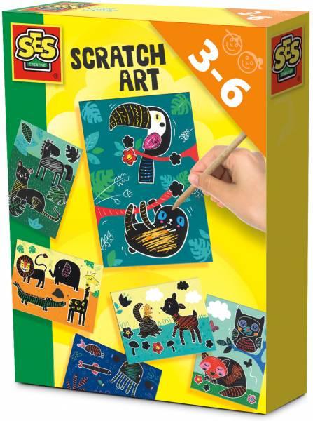 Scratch art SES: dieren (14622)