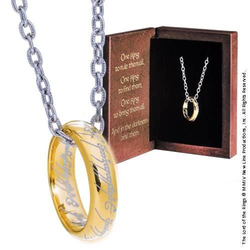 The One Ring - geëtst zilver met ketting