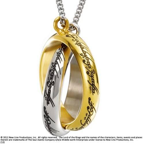 The One Ring zilver en gouden ketting
